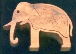 21. Elephant in English Yew<br/>150 x 108mm